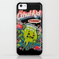 iPhone 5c Cases featuring CTHUL-AID by BeastWreck