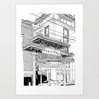 Nagasaki - China Town Art Print