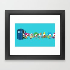Clown Tardis Framed Art Print