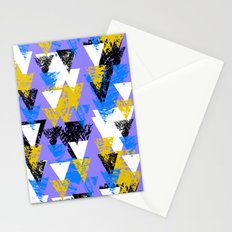 Bright triangles Stationery Cards