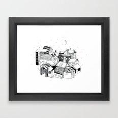 Book Town Framed Art Print
