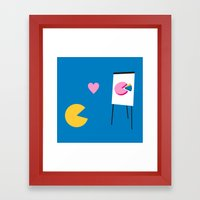 Office Romance Framed Art Print