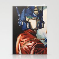 Optimus Prime With Sunfl… Stationery Cards