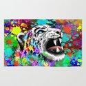 Leopard Psychedelic Paint Splats Rug