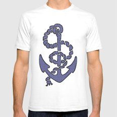 Blue Anchor SMALL White Mens Fitted Tee