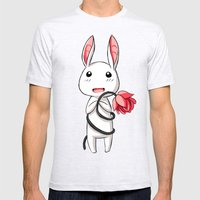 Bunny Flower Mens Fitted Tee Ash Grey SMALL