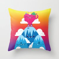 Love on Top Throw Pillow