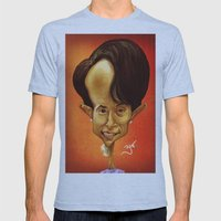 Aung San Suu Kyi Mens Fitted Tee Athletic Blue SMALL