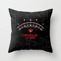Chromatic Lovers Throw Pillow
