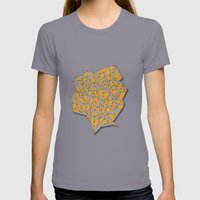 III SIDES Womens Fitted Tee Slate SMALL