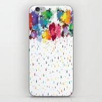 Rainbow Raindrops iPhone & iPod Skin