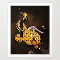 WOMEN - YELLOW Art Print