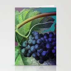 Purple Grape Vine Stationery Cards