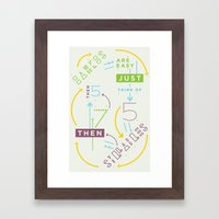 Haikuglyphics - Haikanics Framed Art Print
