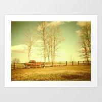 Pappy's farm truck. Art Print