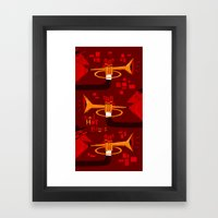 Red Hot Brass Framed Art Print