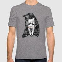 Dali Scream Mens Fitted Tee Tri-Grey SMALL