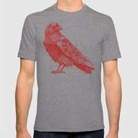 Red Raven  Mens Fitted Tee Tri-Grey SMALL