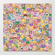 Emoji / Emoticons Canvas Print