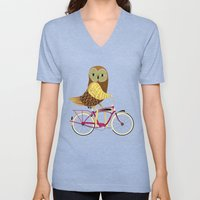 Owl Bicycle Unisex V-Neck