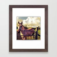 Ronin Horse, Warrior Brother Framed Art Print