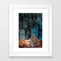 In The Company Of Wolves Framed Art Print