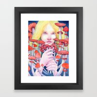 Keeper Of The Scarlet Ga… Framed Art Print
