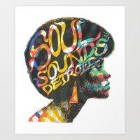 Soul Sounds Detroit Art Print