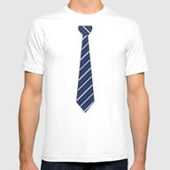 TIE Mens Fitted Tee White SMALL