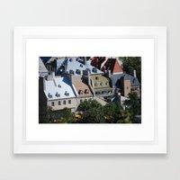 Roof Tops Framed Art Print