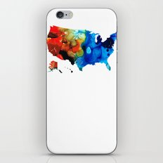 United States of America Map 4 - Colorful USA iPhone & iPod Skin
