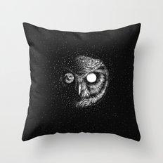 Moon Blinked Throw Pillow
