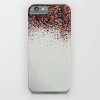 iPhone & iPod Case featuring Glitter Sparkle Confetti Rainbow Party by Leah Flores
