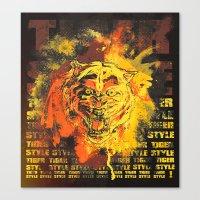 Tiger Style. Canvas Print