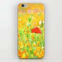 Poppies Impression iPhone & iPod Skin