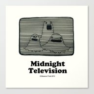 Midnight Television ( Th… Canvas Print