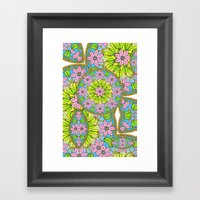 Color Me Spring Mandala Framed Art Print