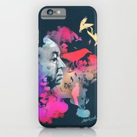 iPhone Cases featuring Hitchcock by Pepe Psyche