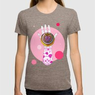 Chibi Moon Womens Fitted Tee Tri-Coffee SMALL