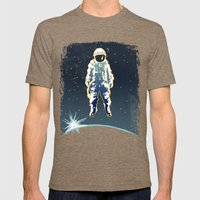 Astronaut Mens Fitted Tee Tri-Coffee SMALL