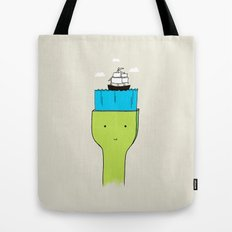 Brush With Blue Sea Tote Bag