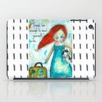 Travel girl quote iPad Case