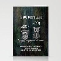 Two Hoots Stationery Cards