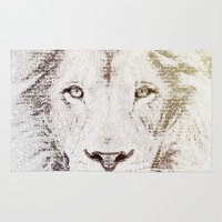 The Intellectual Lion Rug