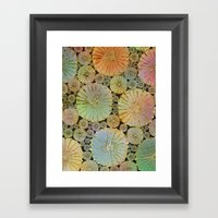 Abstract Floral Circles 2 Framed Art Print