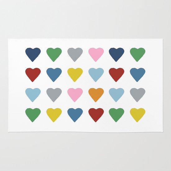 16 Hearts Area & Throw Rug