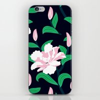 Grunge Peonies iPhone & iPod Skin