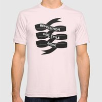Revolution Girl Style Now! Typographic Banner Mens Fitted Tee Light Pink SMALL