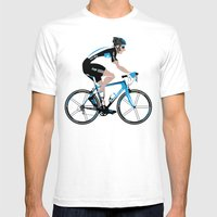 Bradley Wiggins Team Sky Mens Fitted Tee White SMALL