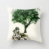 'In The Rhythm Of Nature… Throw Pillow